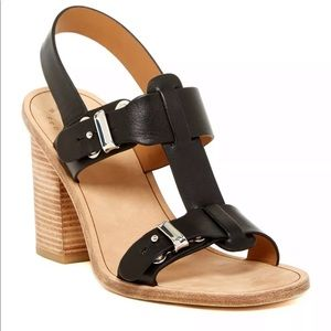 Marc By Marc Jacobs Buckle High Heel Sandals Black